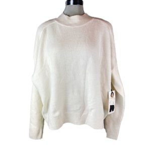 🆕 BLACK TAPE Wheat Cream Cold Shoulder Sweater